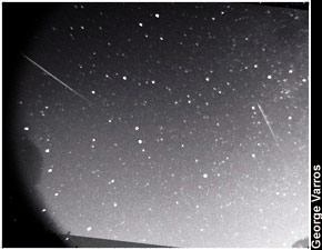 George Varros shot this amazing photo during the Perseid Meteor shower, in Mount Airy, Maryland, on Aug. 12, 2006.