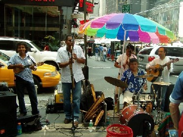 Broadway Street - Street Musicians from Peru
