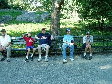 "Ray and the boys ""tired"" in Central Park"