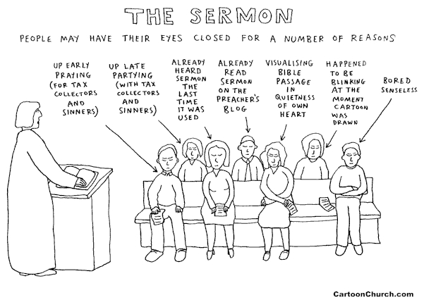 The Sermon (Cartoon by Dave Walker)