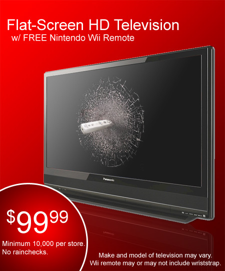 Flat Screen HD TV with Remote