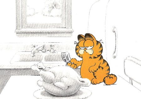 Another Garfield Monday - November | Thanksgiving: No turkeys were killed to make this product