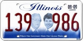 New Illinois State License Plate | George Ryan | Rod Blagojevich