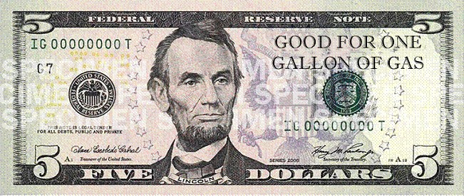 The New Five Dollar ($5) Bill | Good for One Gallon of Gas