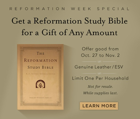Click image to go to Reformation Study Bible Offer
